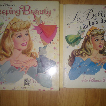 Disney' Sleeping Beauty books from France