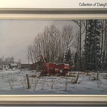 Winter Scene, Oil on Canvas, by Kelvin Sawatzky - Fine Art