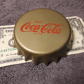 oversized plastic COCA COLA bottle cap thing - Coca-Cola
