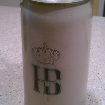 Hofbrauhaus KGL lidded stein - Breweriana
