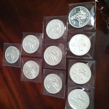 Engelhard Silver 1984 Prospector .999 Solid Silver Rounds - US Coins