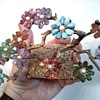 "Swoboda ""Genuine Gemstones"" Bonsai Tree With Cultured Pearls /Circa 1950's"
