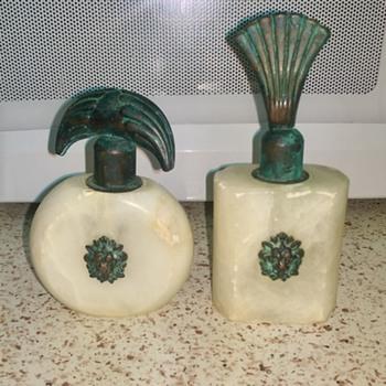 Alabaster Perfume Bottles Lion Head