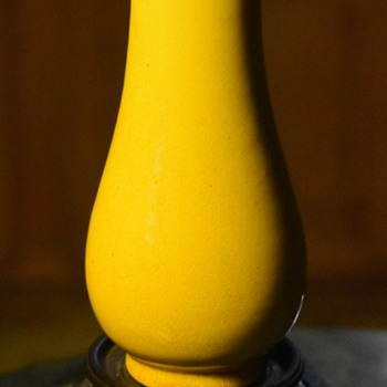 Small Awaji Vase - Bright Yellow. - Asian
