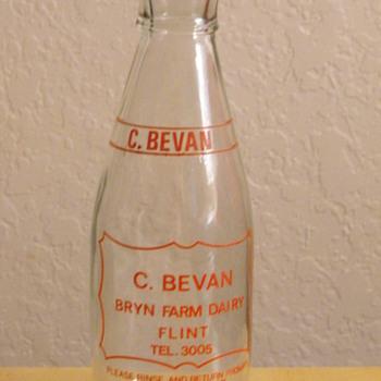 C. Bevan Bryn Farm Dairy Bottle from Great Britain - Bottles