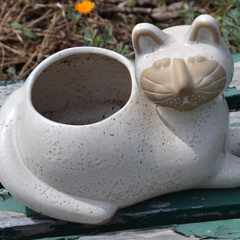 Kitty Planter by David Stewart from southern california - Pottery