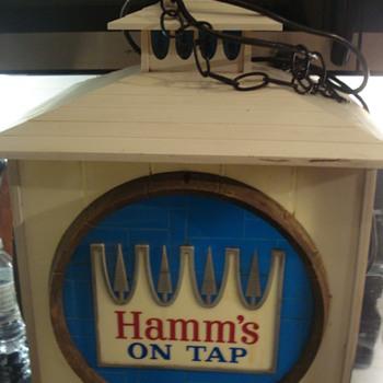 1960's HAMM'S beer rotating clock/sign