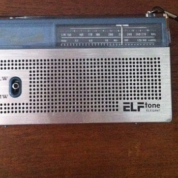 Elf tone elegant solid state MW/LW two band radio.