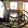 Early Thonet Bentwood Wicker Rocker