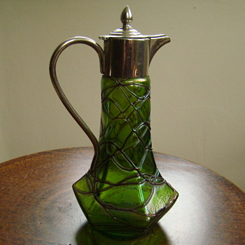 Art Nouveau Iridised Jug - Art Glass