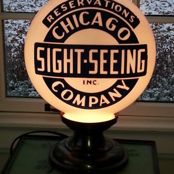 Chicago Travel Globe Lamp - Lamps