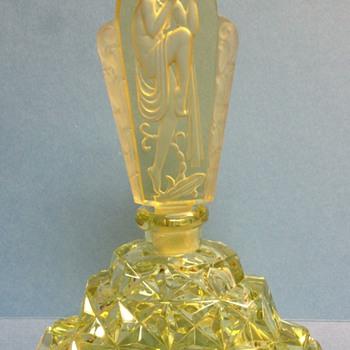 Amber Vintage Czech Perfume Bottle - Bottles