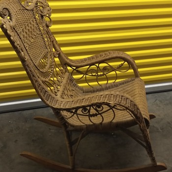 My favorite antique wicker rocker - Furniture
