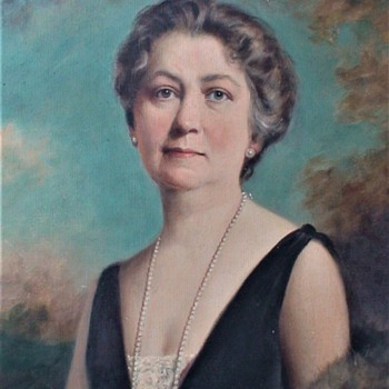 Portrait Of  Miriam Gerdes Hostetter  By Austin Shaw Canadian - Fine Art