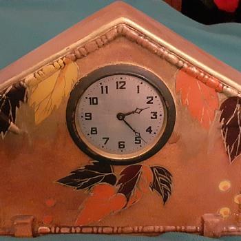 Deco Ceramic Mantel Clock by Foreign  - Art Deco