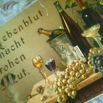 1880's original lithograph - german- - Breweriana