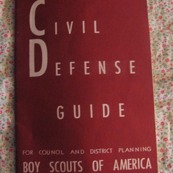 1950 Boy Scout Civil Defense Guide - Sporting Goods