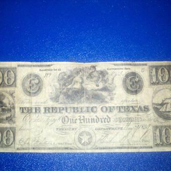 texas money 1839 - US Paper Money