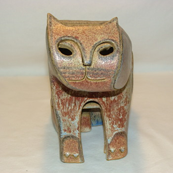 Vintage Mid Century Studio Art Pottery Cat - Pottery