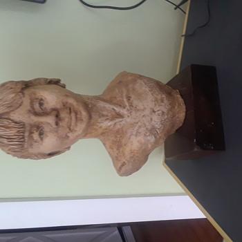 Ceramic plaster bust