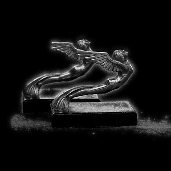Hood Ornament Bookends (what are they from?) - Art Deco