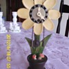 Wooden Flower Clock