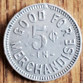 Aluminum token.  - US Coins