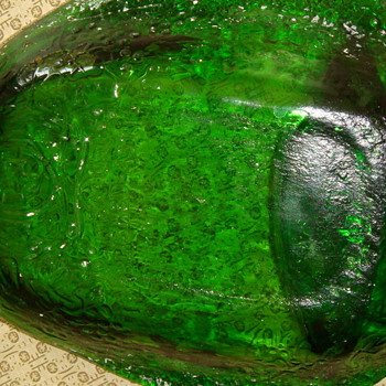 Green Flat glass-flatten-Wine Bottle - Bottles