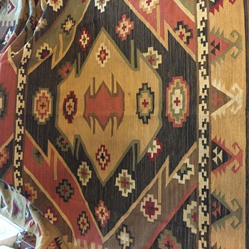 Huge Old Rug - Rugs and Textiles