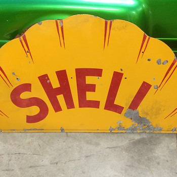 1920's Shell sign single sided - Petroliana