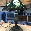 Antique mall find-Slag glass lamp