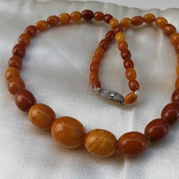 Antique amber bead necklace  - Fine Jewelry