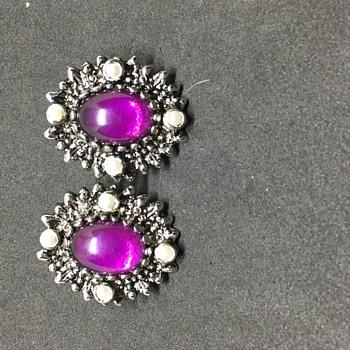 Purple Sarah Cov earrings - Costume Jewelry