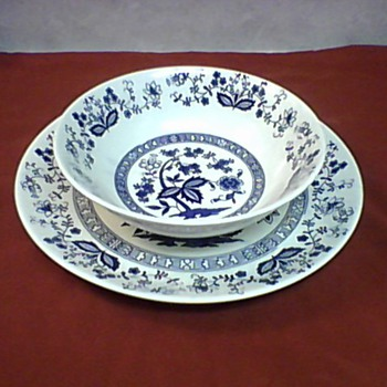 LARGE BOWL AND PLATTER - China and Dinnerware