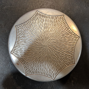Mid Century Modern Pewter Covered Container - Mystery Mark - Furniture
