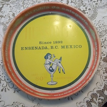 Hussong's cantina serving tray