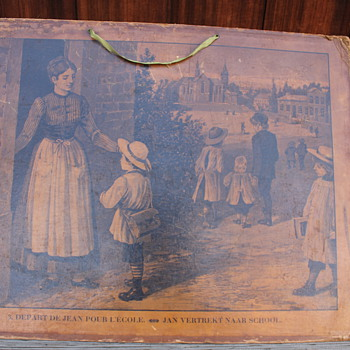 Paper Cardboard Lithograph? picture Teachers Aide? French