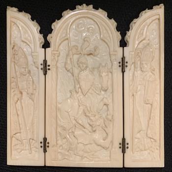 Antique Ivory Icon