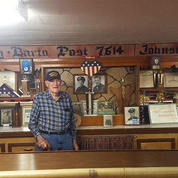 MY UNCLE-AT THE VFW POST THAT HE HELPED BUILD