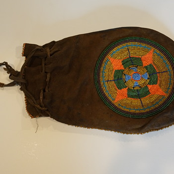 Beaded Native American Pouch - Native American