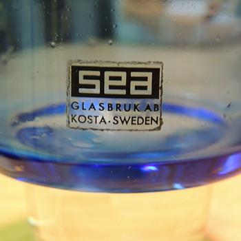 "SEAglasbruk ""Rocket"" Vase - Art Glass"