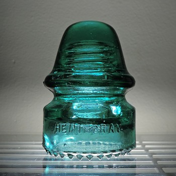 Hemingray #18 Insulator Patent May 2, 1893 Green Aqua Glass Antique Vintage Electric Power Telegraph - Tools and Hardware
