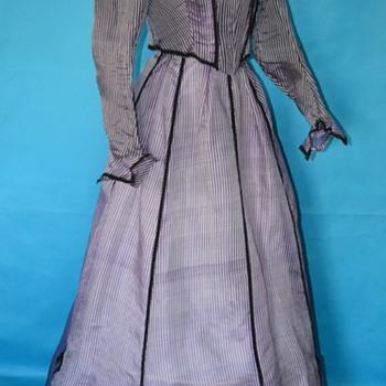 Rare purple pinstripe 1800's Victorian dress...never worn!