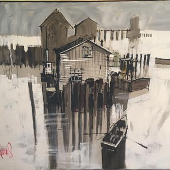Boat house by Lee Reynolds  - Fine Art