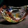 Fred Wilkerson Glass Studio, Moundsville West Virginia/Biomorphic Paperweight-Sculpture/Circa 1998