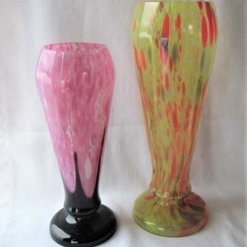 TWO Kralik Shapes that had many Variations in Size and Decors - Art Glass