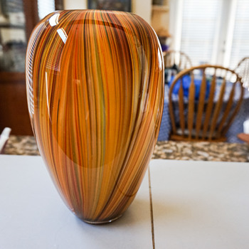 Multi Colored Glass Vase - Art Glass