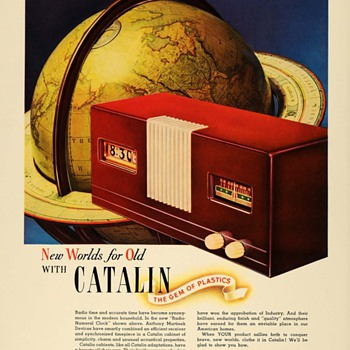Martinek -Pennwood Clock Radio Ads, 1940 (Catalin and Hamilton Ross)