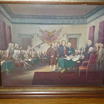 Vintage Help Identify declaration of independence 3D Art Artist Walter K. Love - Fine Art