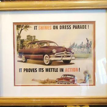 1950 Ford car advertising print